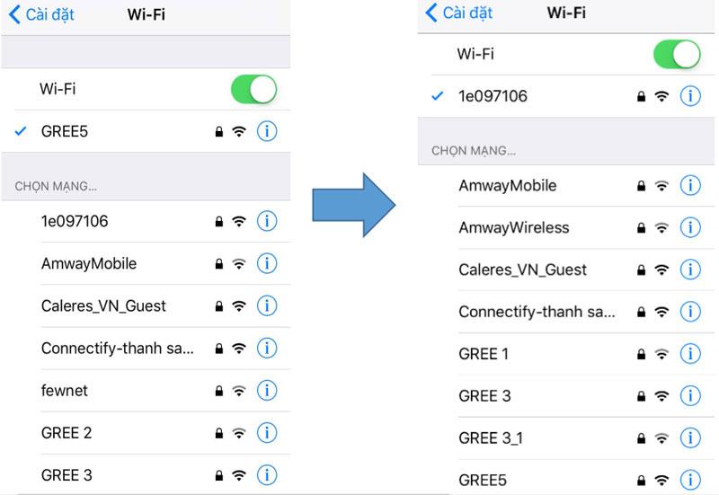 Kết nối điện thoại với điều hòa Gree qua wifi