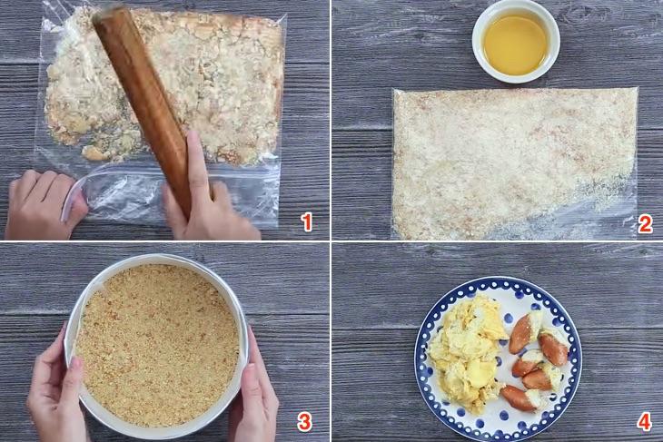 Cách làm bánh cheese cake sầu riêng ăn là ghiền