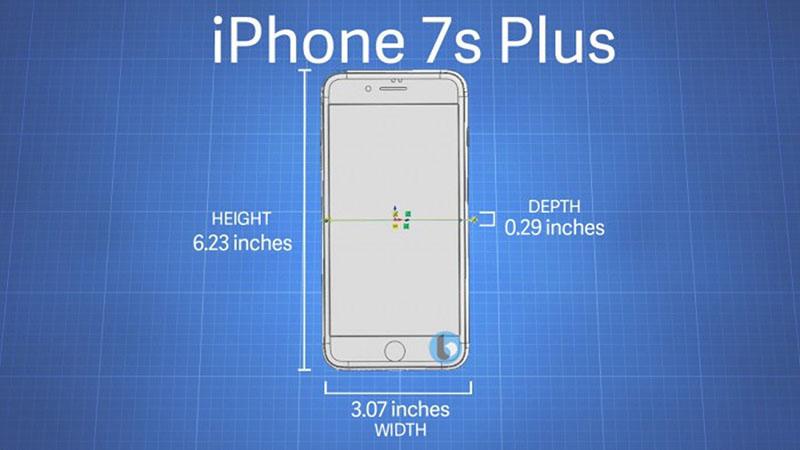 Kích cỡ iPhone 7s Plus