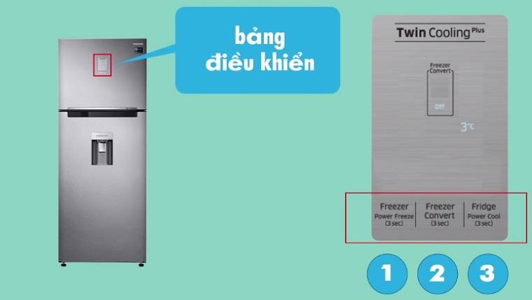 Tổng quan về bảng điều khiển của tủ lạnh Samsung Twin Cooling Plus