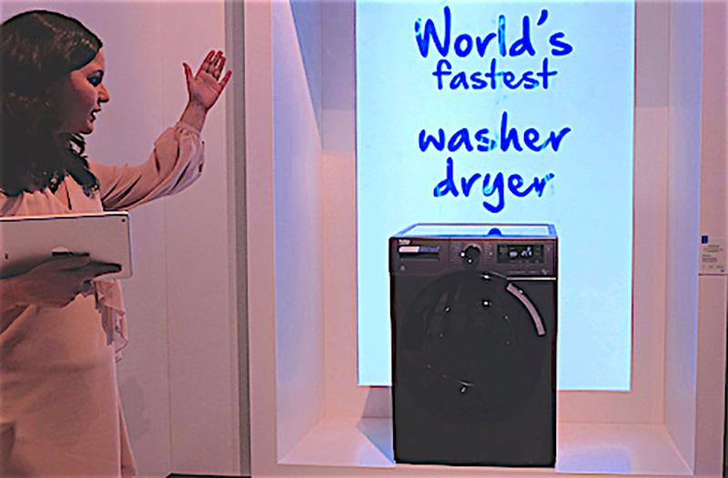 Máy giặt sấy Beko giặt nhanh nhất thế giới
