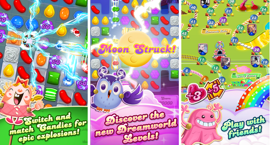 trò chơi xếp kẹo candy crush saga mang lại những niềm vui cho mọi người