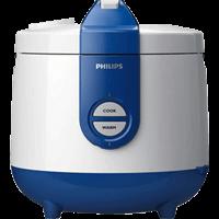 Nồi cơm nắp gài Philips HD3118 Trắng xanh