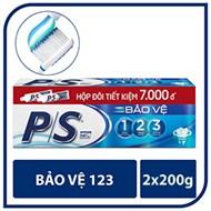 Kem đánh răng P/S bảo vệ 123 200g (2 ống)