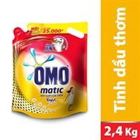 Nước giặt Omo Matic Comfort Tinh dầu thơm túi 2,4kg