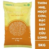 Gạo Nàng hoa Mặt trời cười 5kg