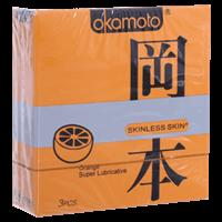 Bao cao su Okamoto Skinless Skin hương Cam 53mm (hộp 3 cái)