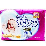 Miếng lót Bobby Newborn2 60 miếng (bé trên 1 tháng tuổi)