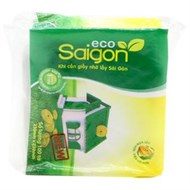 Khăn ăn Saigon Eco vuông gói 100 tờ 1 lớp (230x230mm)
