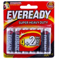 Pin AA Eveready Super Duty 1215BP4+2