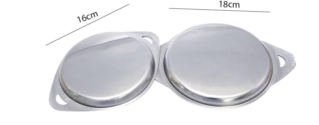 Bộ chảo ốp la inox bếp từ TITHAFAC 16,18cm