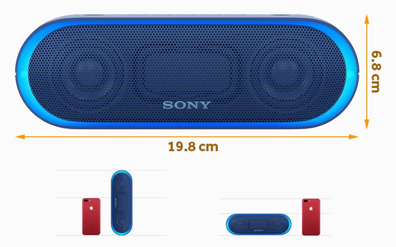Loa bluetooth Sony SRS-XB20 - Thiết kế loa bluetooth Sony SRS-XB20 gọn gàng