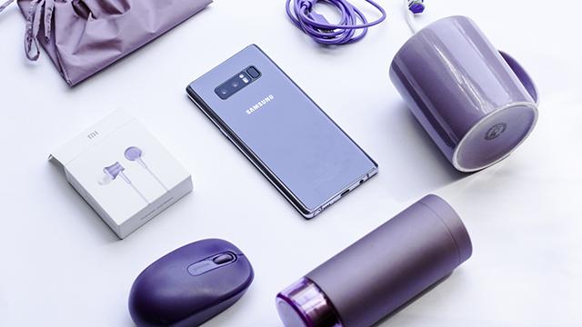 Khung viền Samsung Galaxy Note 8 Orchid Gray