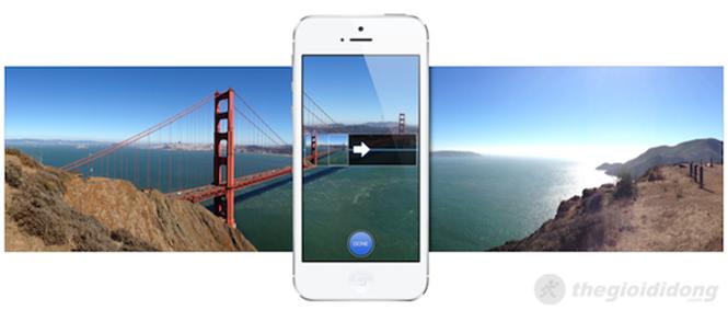 chụp ảnh panorama trên iphone 5