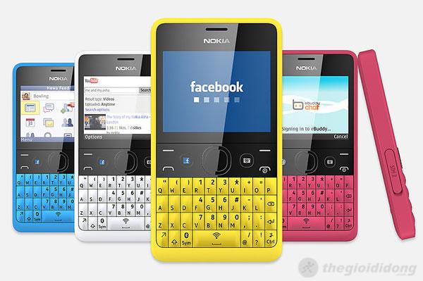 Nokia Asha 210 Dual có nhiều màu sắc