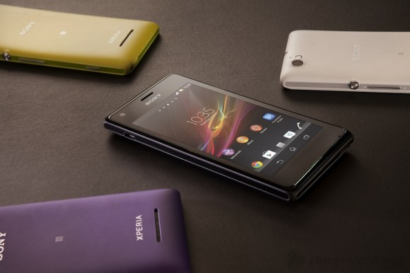 Sony Xperia M sử dụng hđh Android Jelly Bean