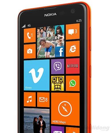 Lumia 625 có thể vận hành mượt mà với vi xử lí lõi kép 1,2GHz