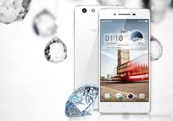Oppo R1 thiết kế
