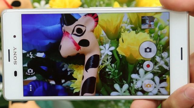 Giao diện chụp ảnh của máy Sony Z3