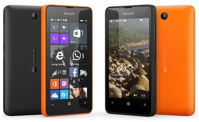 Microsoft Lumia 430 vẫn mang phong cách rất đặc trưng của dòng Lumia