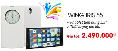 Điện thoại di động Wing Iris 55