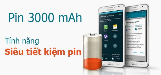 Dung lượng pin lớn và chế độ tiết kiệm pin tiện lợi