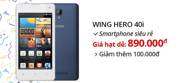 Điện thoại di động Wing Hero 40i