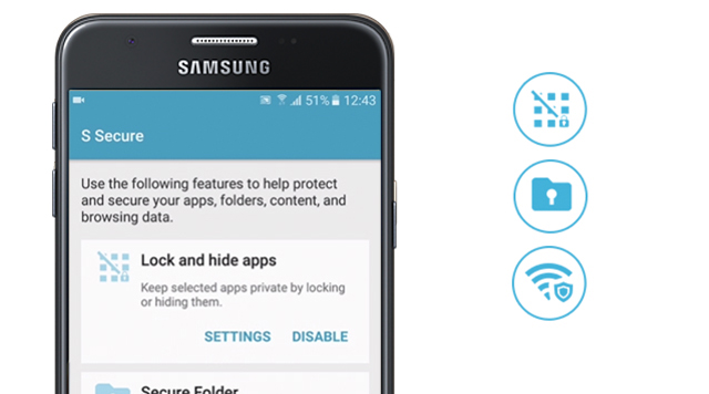Samsung Galaxy J5 Prime - Ẩn hoặc khóa ứng dụng riêng tư bằng tính năng S Secure