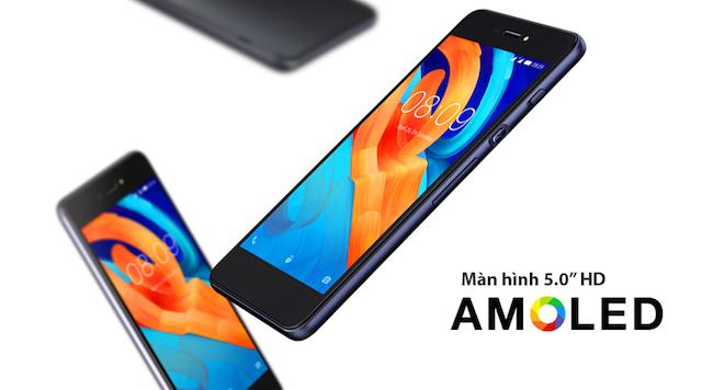 Mobiistar Lai Yuna X - Màn hình 5.0 inch cùng viền cong 2.5D
