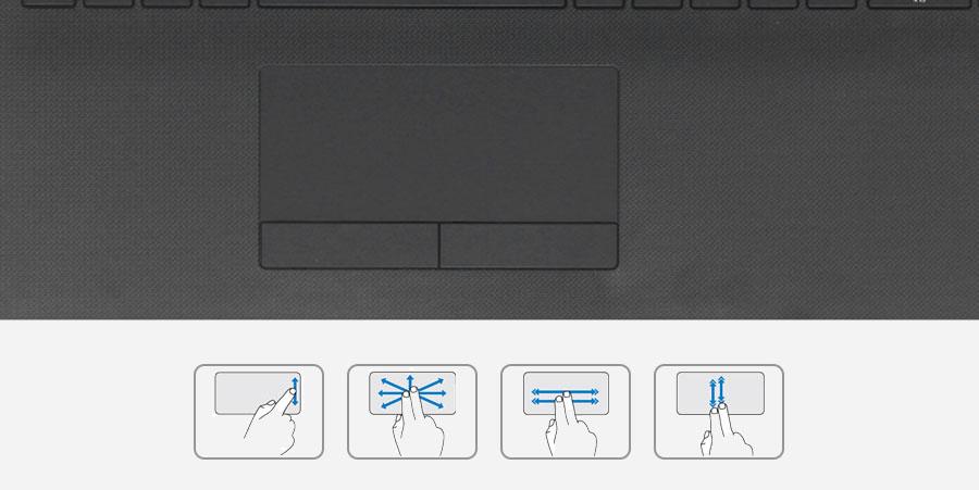 HP 15 bs578TU N3710 - Touchpad đa chạm để điều khiển