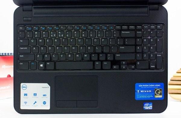 Dell Inspiron 3521 bàn phím chiclet, touchpad