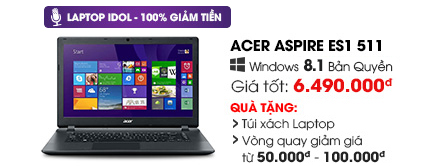 Laptop Acer Aspire ES1 511 Celeron N2930/2G/500G/Win8
