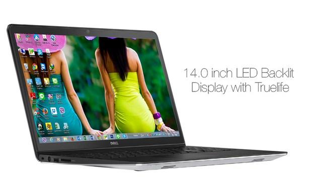 Góc nhìn rộng đến 135 độ cùng tấm nền chống chói giúp màn hình máy tính xách tay Dell Inspiron 5448 i5 luôn sáng, đẹp trong mọi hoàn cảnh