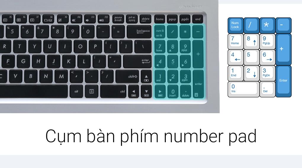 Bàn phím số number pad đầy đủ