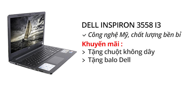 Laptop Dell Inspiron 3558 i3 5005U/4GB/500GB/Win10