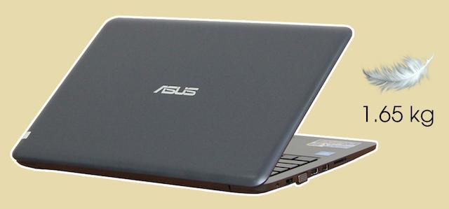 Asus E402SA N3060 - Máy được gia công với màu xanh, tạo sự khác biệt với màu đen truyền thống