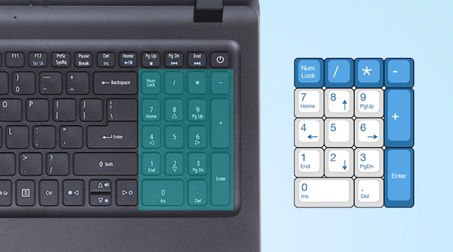 Acer ES1 533 N4200 - Bàn phím số thuận tiện