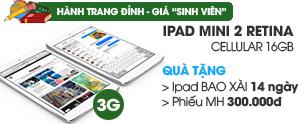 iPad Mini 2 Retina Cellular 16GB/Wifi/3G