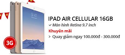 Máy tính bảng iPad Air Cellular 16GB