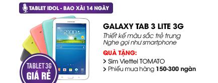 Máy tính bảng Samsung Galaxy Tab 3 Lite 3G/8GB (T111)