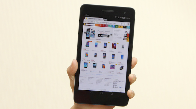 With 107 mm of width and 278g of weight, this tablet can be used with one hand