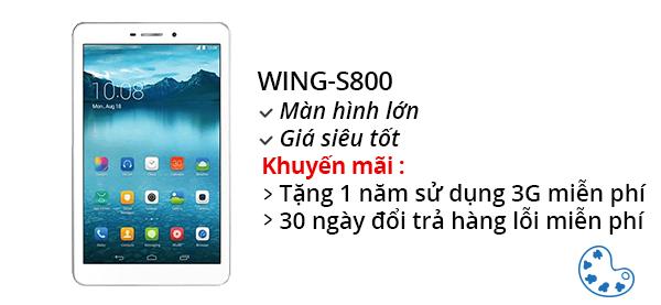 Máy tính bảng Wing S800 8.0