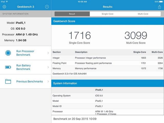 RAM 2GB cùng vi xử lý A8 mạnh mẽ đem đến khả năng xử lý đa nhiệm tuyệt vời
