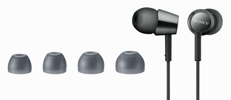 Tai nghe EP Sony MDR-EX155AP - Đi kèm các đệm tai nghe nhiều kích cỡ khác nhau