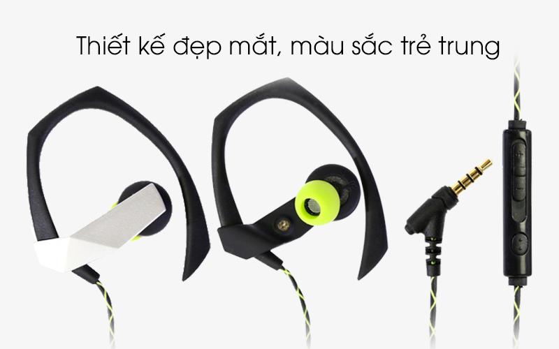 Tai nghe EP Kanen S70 Đen xanh lá - Thiết kế màu sắc tươi trẻ, năng động