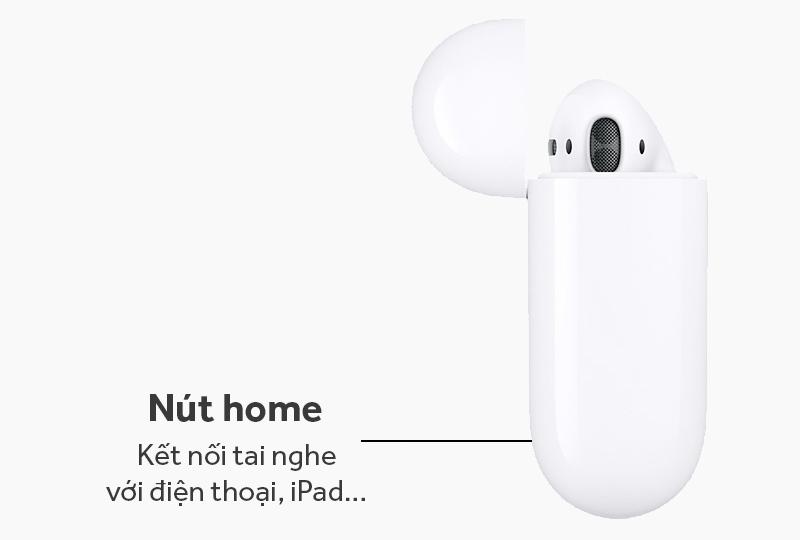 Tai nghe Bluetooth AirPods Apple MMEF2 - Nút Home giúp kết nối tai nghe với điện thoại