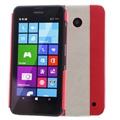 Ốp lưng da Nokia Lumia 630 Zenus#Đỏ