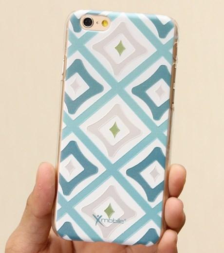 Ốp lưng - Flipcover điện thoại Ốp lưng iPhone 6 Nhựa in X Mobile Ruby