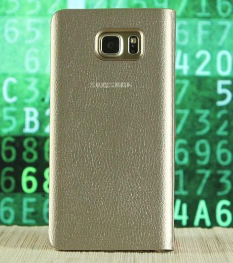 Ốp lưng - Flipcover điện thoại Bao da Galaxy Note 5 nắp gập S-View