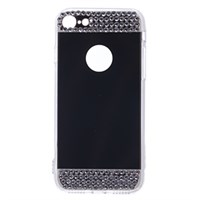 Ốp lưng iPhone 7 Nhựa cứng viền dẻo Mirror VI JM Gold